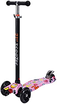 Coolbaby Kids Scooter 3 Wheel 4 Wheel Mini Adjustable Kick Scooter with LED Light Up Wheels.multicolour
