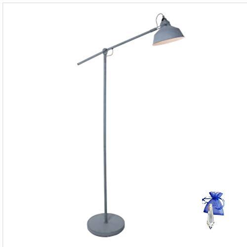 Giveaway 1322GR Lampe sur pied style industriel rétro Gris mat E27 230 V