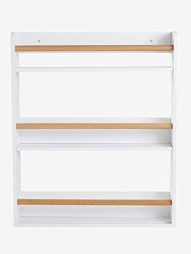 Vertbaudet Bücherregal, 3 Böden weiß/Natur ONE Size