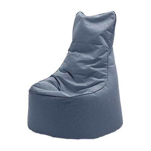 Sitting Bull Chill Seat Outdoor Sitzsack, rauchgrau LxBxH 85x75x100cm Füllung: EPS-Perlen
