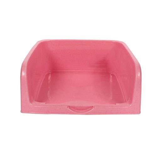 Heimtierbedarf Haustier Hund Katze Toilette Kunststoff Töpfchen mit Zaun und Zielscheibe leicht zu reinigen (Farbe: rot)