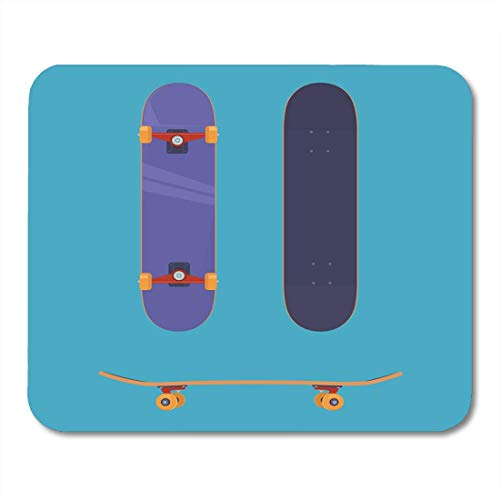 Mouse Pads Culture Activity Flat Skateboard from All Sides Extreme Sport Purple Board Deck Mouse Pad for Notebooks,Desktop Computers Mouse Mats, Office Supplies -