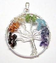 CRYSTALMIRACLE Beautiful Tree Of Life Gemstone Pendant Wellness Positive Energy Fashion Jewelry Men women Gift