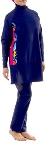 Veilkini Full Cover Modest Loose Fit Swim Suit for Girls, V01DN180203, Navy Blue