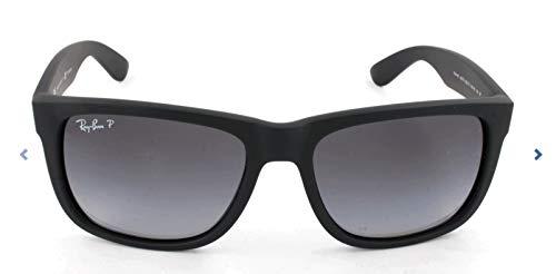 Ray-ban justin rb4165 non-polarized- occhiali da sole unisex, nero (frame: nero, lenti: grigio polarizzato gradiente 622 / t3), 55 mm