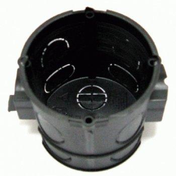 Kopp Schalterdose Unterputz, Durchmesser, Geräteschraubenabstand 60mm, Dosentiefe 61mm, Farbe schwarz, 354100001