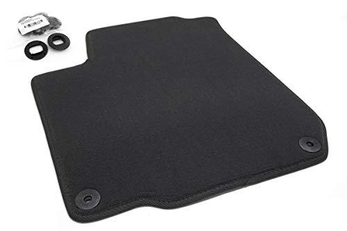 Fußmatte Fahrerseite Golf 4 IV (Velours) Automatte Original Qualität, Schwarz, Fahrermatte einzlen