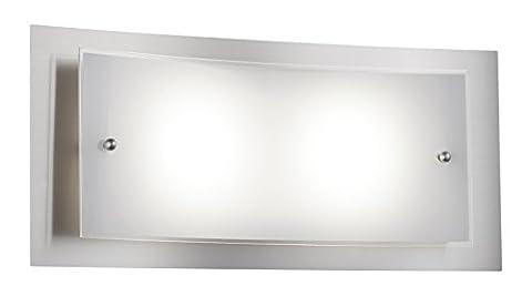 Trio Leuchten LED-Wandleuchte, nickel matt / glas weiß 223570207