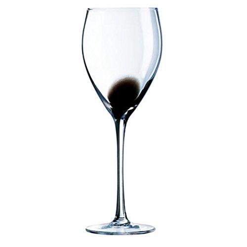 Novastyl 8013033 Verres à Pied Drip Noir 27 Cl Lot de 4