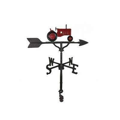Montague Metal Products Wetterfahne mit rotem Traktor, 81 cm