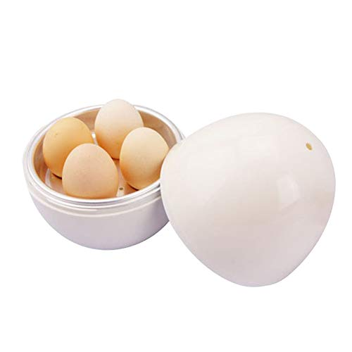 Alaojie Microwave Egg Cooker for 4 Eggs Easy to Use Adjustable Egg Cooker