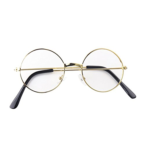 Hibote Mädchen Junge Runde Brille - Clear Lens Glasses Frame Geek/Nerd Brillen mit Car Shape...