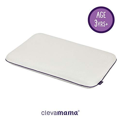 Clevamama Babykissen mit natürlicher Lavendelessenz - Kinderkissen für einen Erholsamen Schlaf, 60x40x7cm