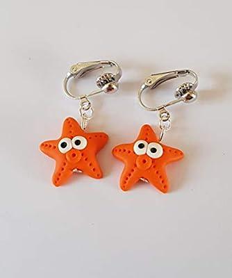 boucles d'oreilles clips etoiles de mer oreilles non percées