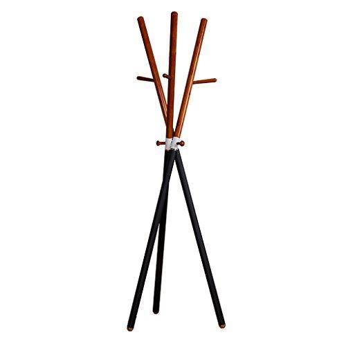 SKC Lighting-Porte-manteau Cintres en bois solide de plancher de support de manteau de bois européen Assemblée simple de salon de support de vêtements de mode (Couleur : Ambre jaune)