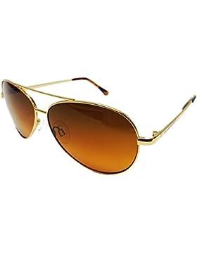 Blublocker - Gafas de sol - para hombre dorado dorado