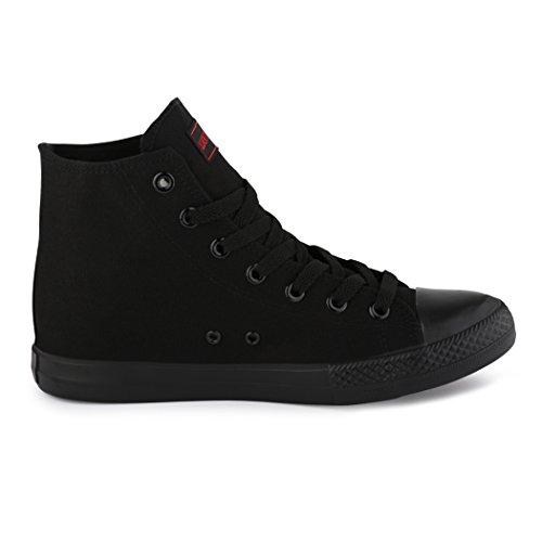 best-boots, Sneaker uomo Negro - High Top ALLBlack