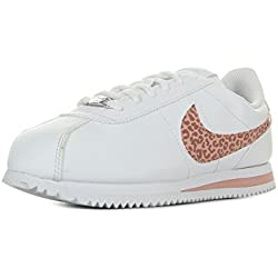 Nike Cortez Basic SL (GS), Zapatillas de Deporte para Mujer, (White/Coral Stardust 102), 38 EU