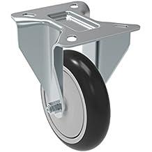 Plate 3-3//4 x 2-1//2 Non-Marking Polypropylene Precision Ball Bearing Wheel 325 lb Bolt Holes 3 x 1-3//4 Schioppa FLA 512 NPE L12 Series 5 x 1-1//4 Diameter Rigid Caster