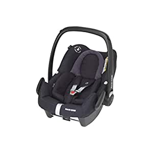 Maxi Cosi Rock Babyschale, sicherer i-Size Kindersitz, Gruppe 0+ (0-13 kg), nutzbar ab der Geburt bis 12 Monate, black diamond