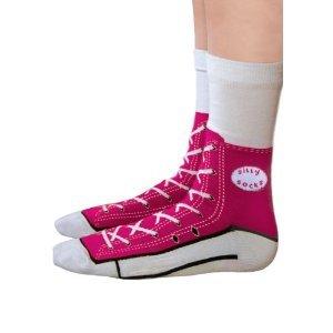 Sneaker Socken pink - Silly Socks im Sneakers Turnschuhe Stil