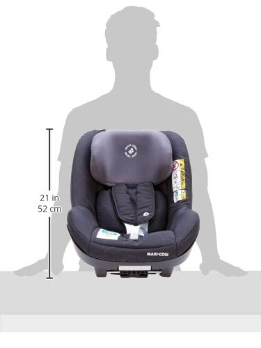Maxi-Cosi Pearl Smart i-Size Toddler Car Seat, 6 Months - 4 Years, 9-18 kg, 67 - 105 cm, Black Diamond Maxi-Cosi Car seat for toddlers, suitable from 6 months to 4 years (9 - 18 kg, 67 - 105 cm) Must be installed in combination with family fix one i-size base Harness and headrest of this car seat adjust simultaneously for easy adjustment when child grows 7