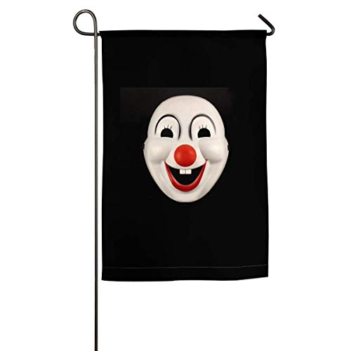 WEERQ Halloween Clown Red Nose Mask Floral Garden Yard Flag Banner-Best for Party and Decor