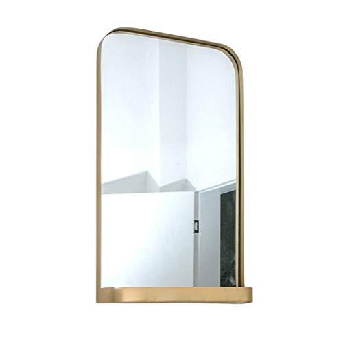 JKAD Espejo Colgante Rectangular Dorado,Espejo Moderno con Marco De Metal Espejo Decorativo para Colgar...