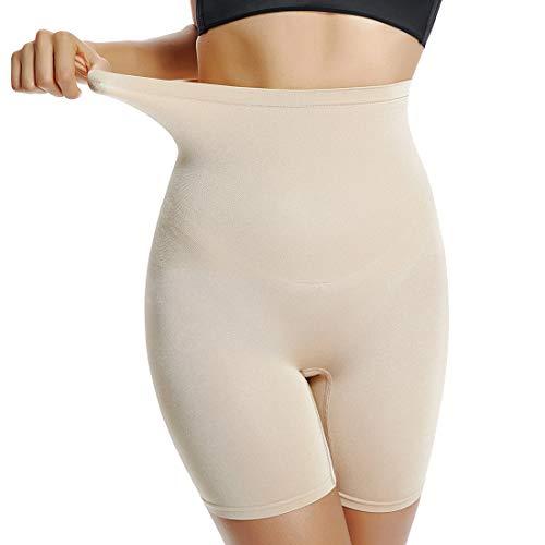 Shapewear Damen Oberschenkel Slimmer Slip Short Control Pantties Body Shaper Unterkleid Boyshorts - Beige - XX-Large