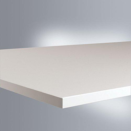 Manuflex Arbeits-Grundtisch UNIVERSAL Standard mit Melaminplatte, BxTxH = 1250x800x760-870 mm - 2
