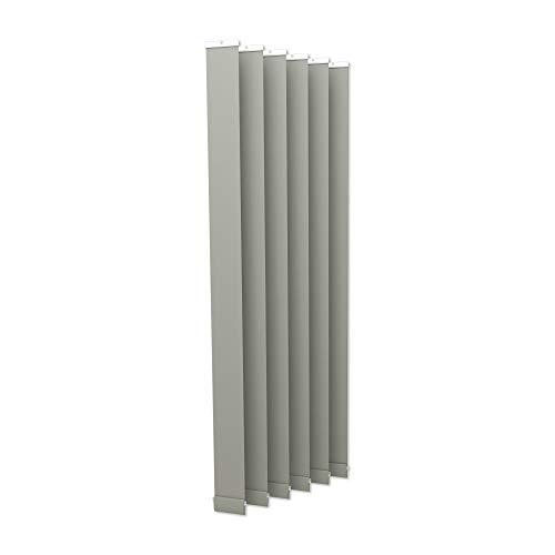 Victoria M. Lamellenvorhang, Jalousie Isabella - I-Form, leicht lichtdurchlässig - 12,7 x 250 cm, Silber | 6er Pack