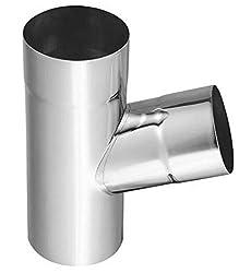 Mit fester Arretierung der Wasserklappe Zambelli VM BlankZinc/® Regenwasserklappe mit Sieb 87 mm