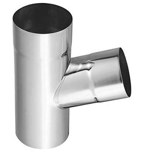 fallrohr titanzink Regenrohrabzweige 72° Titanzink in allen Größen (wählbar) (100-87 mm)