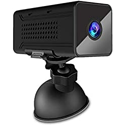 Xmiral Caméra Appareils Photo Numériques Vision de Nuit 1920p Ultra Longs wifii HD Mini Webcam sans Fil DV (Noir)