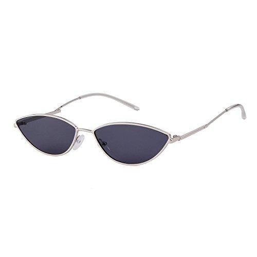 ADEWU Sonnenbrille Katzenaugen Retro Klein Cat Eye Metall Rahmen für Damen Herren