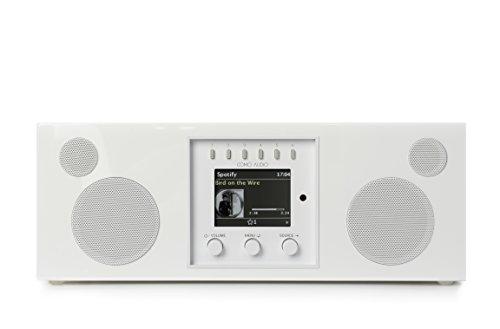 Como Audio Duetto Piano Hochglanz-Weiß - Ipod-lautsprecher Wecker Radio