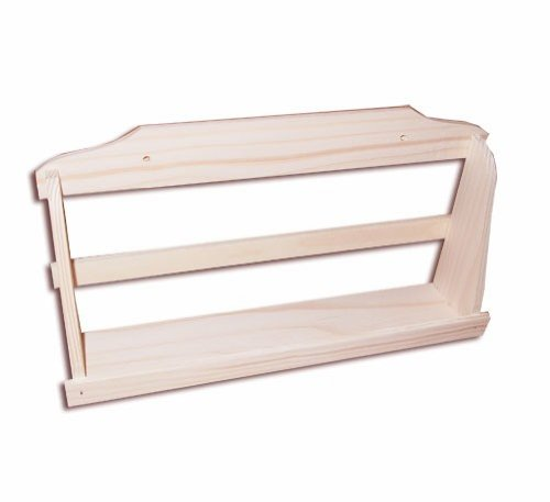 1-stufiges Gewürzregal, Holz, Wand-Gewürzregal zum Hängen, Kiefer unbehandelt