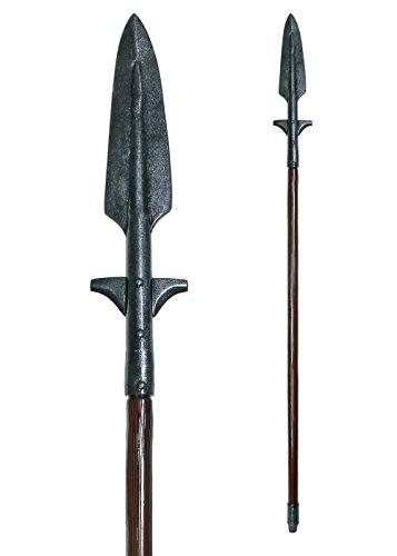LARP Wikinger-Speer, LARP-Waffe ca. 190 cm aus Schaumstoff Polsterwaffe Fantasy Krieger Hexer Speer Mittelalter Schaukampf Wikinger