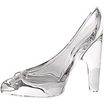a40193189a5a2 Wa - Chaussure de Cendrillon à talon en verre cristal transparent - Ornement