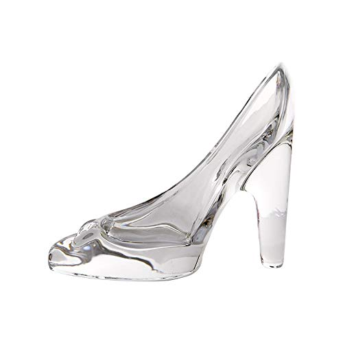 Da.Wa Cenicienta Cristal Zapatos de tacón Alto Transparente Colgante Cristal Zapatillas de Princesa Sentimientos Adornos Boda Fiesta decoración Regalo para niños niñas Hija Novia