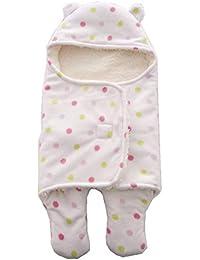 Bebé Recién Nacido Swaddle Mantita Envolvente con Capucha Manta del Cochecito Caliente Wraparound Bebe Saco de Dormir 65 * 75 CM…