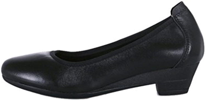 ALUK- ALUK- ALUK- Scarpe da donna   scarpe da lavoro   nere   a punta   scarpe con suole morbide   ruvide con   scarpe comode... | Colori vivaci  9494f7