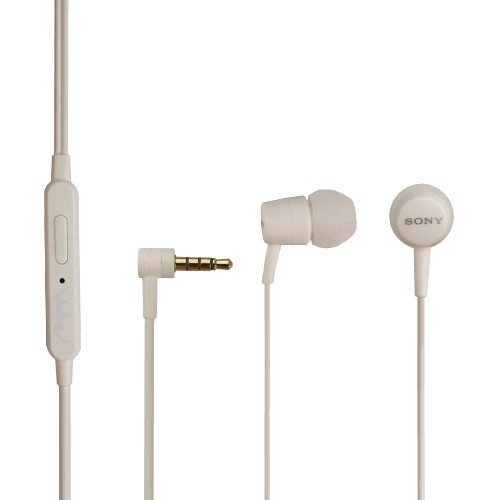Compact Headset (Sony Original Headset MH 750 Z5 Compact Kopfhörer in weiß mit Anrufannahmeknopf On/Off In Ear Ohrhörer)
