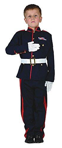 Kostüm Soilder - Bristol Novelty Zeremonielles Soldatenkostüm, Rot