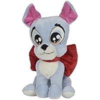 Nicotoy/kitchoun – Doudou Disney peluche Glamour el perro vagabundo gris azul nudo rojo 17