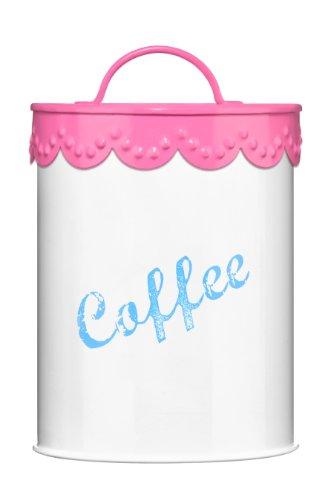 Premier Housewares Rosa Spitzendekoration Kaffeebehälter rose