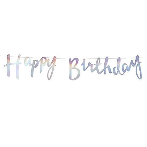 Schriftzug Happy Birthday Girlande Opal Party