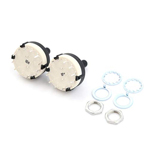 Switches - 2pc Single Deck Rotary Switch Band Selector Rs26 1 Pole Position 12 Selectable Channel - Swing Input Open Pushbutton Moisture Roller Switch Illuminated Ceramic Remote Position Rota -