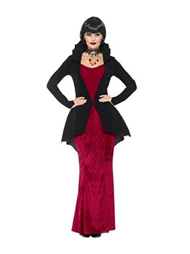 liche Vampirin Kostüm, Kleid mit Jacke, Größe: 36-38, 48019 ()