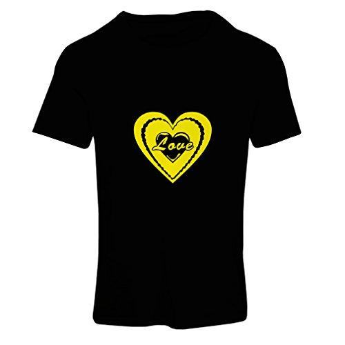 Maglietta Donna I Love you - giorno di San Valentino cita grandi doni Nero Giallo